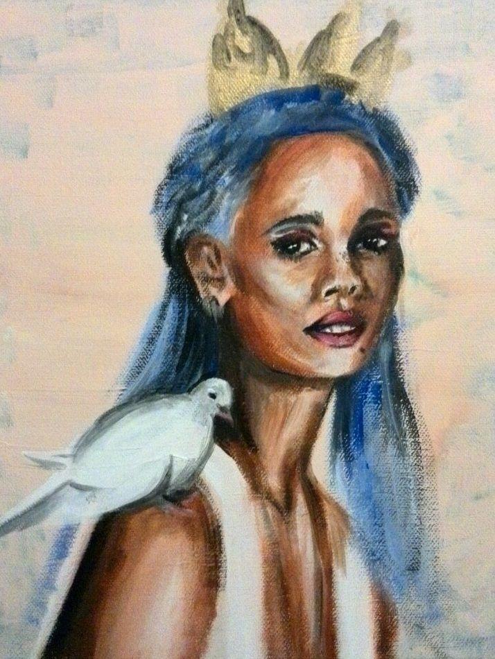 Blue princess dove (acrylics ca - katharinawozny | ello