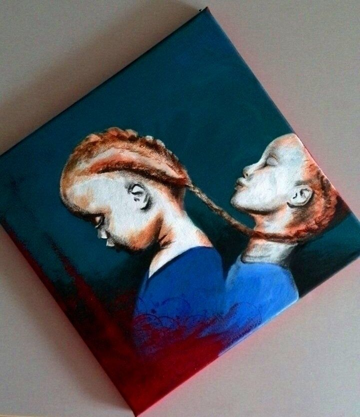 Eternal bond (acrylics canvas - ello - katharinawozny | ello