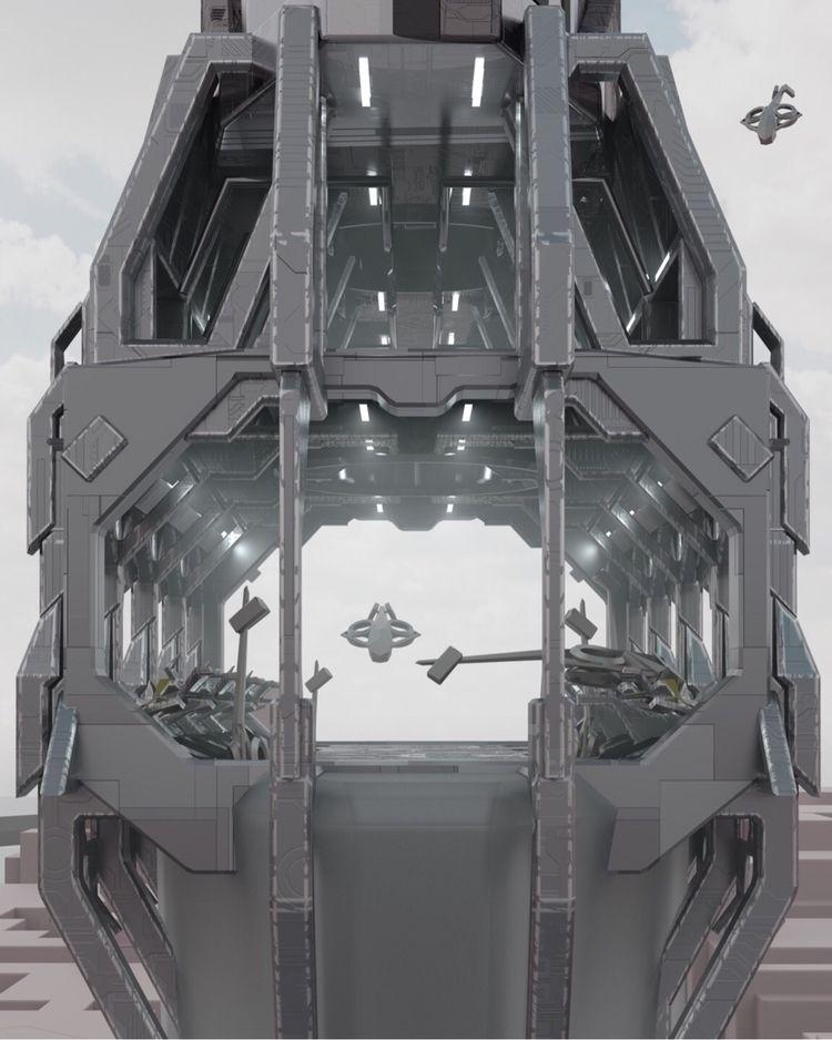 "Postman"" Architectural Thesis - 3D - roggggg | ello"