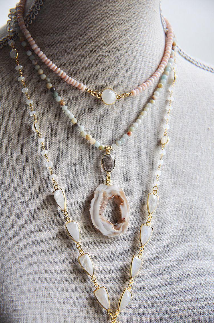 moonstone, opal, pinkopal, amazonite - fawinginlove | ello
