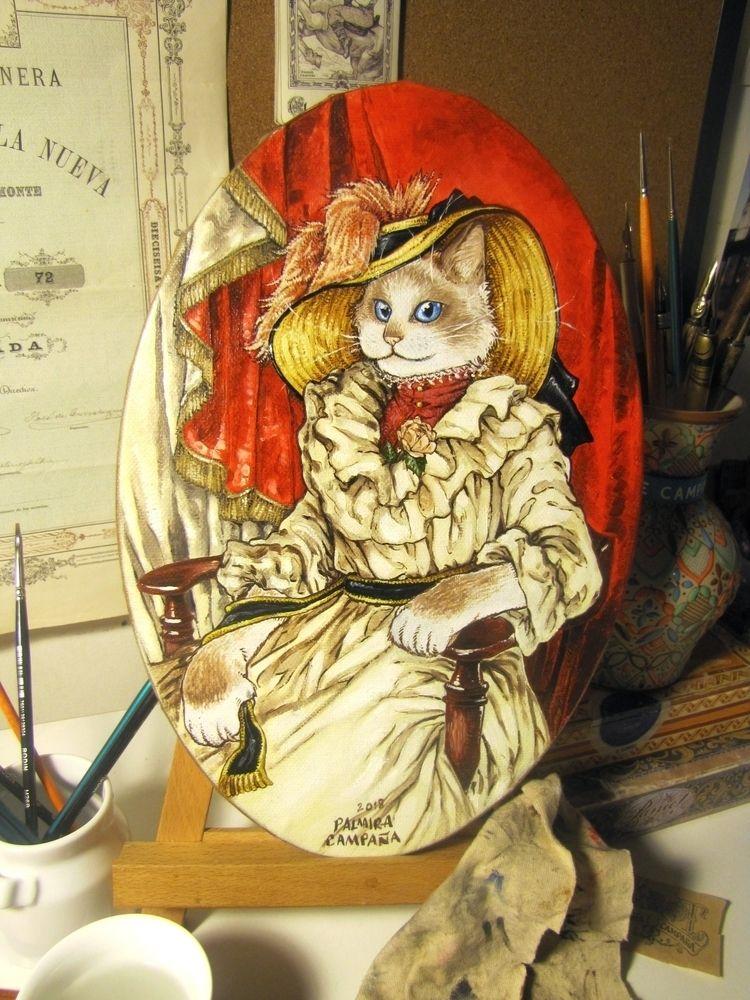 Mademoiselle Chatterine - Painitng - raderwerk | ello