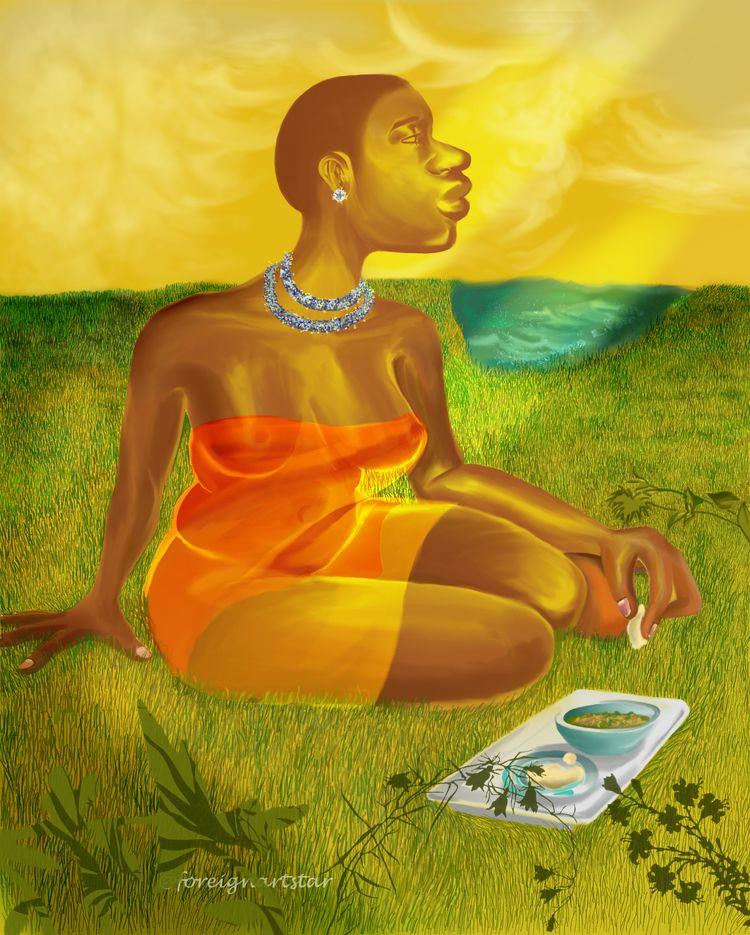 Fufu Fingers - africa, blackart - akanartist | ello
