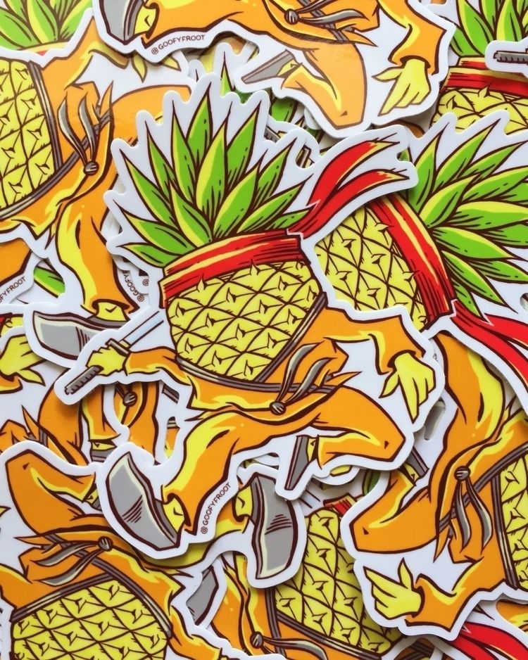 SUPER DOPE PINEAPPLE STICKERS s - maxwell_inxx | ello