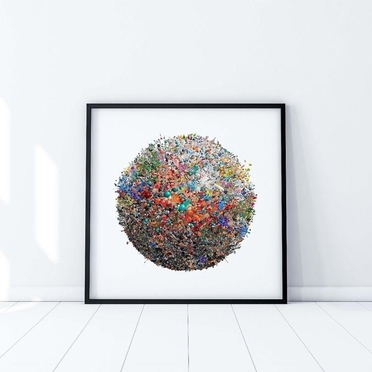 Happy plastic (70×70 cm) - digi - vincentlafaut | ello