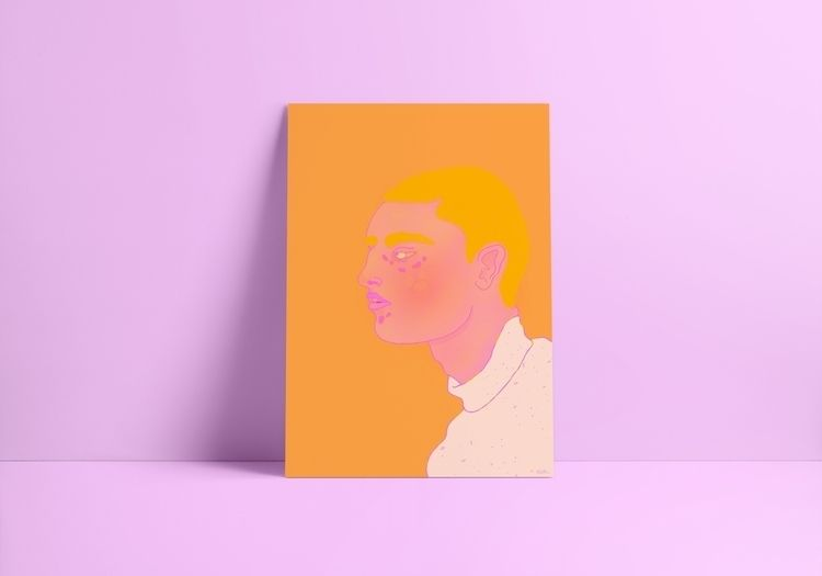 Orange Boy print Print options - thedutchspork   ello