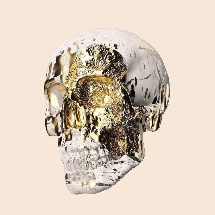 Gold skull Instagram - cinema4d - mattiafalo | ello