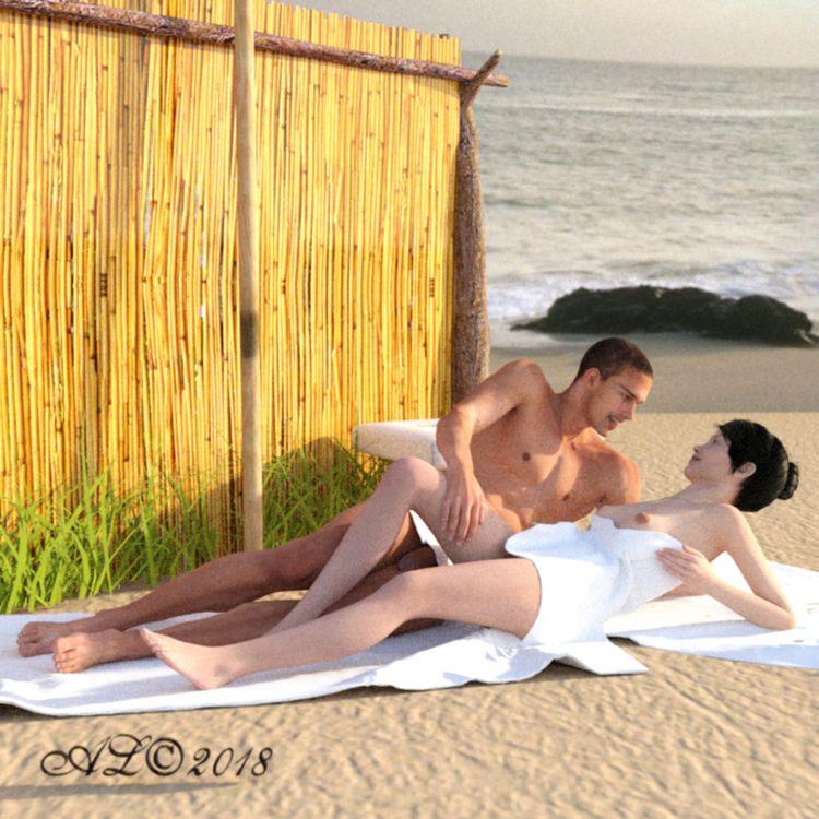 sun, sex, beach, couple, spain - franklange | ello