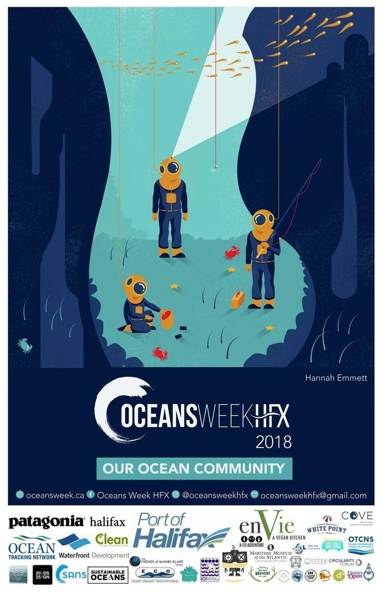 Oceans Week 2018 | Illustrator  - hannahemmett1 | ello
