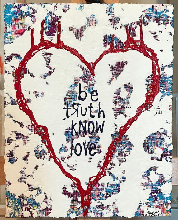 "truth love 11""x14"" acrylic canv - nuisms 