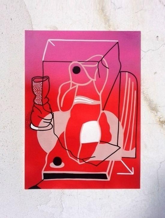 PAPER spray acrylic marker pape - moonmambo | ello