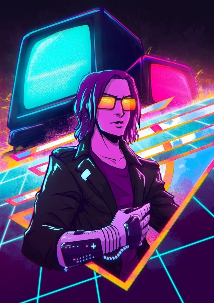 Power Glove - Retrowave themes  - shawncauchi | ello