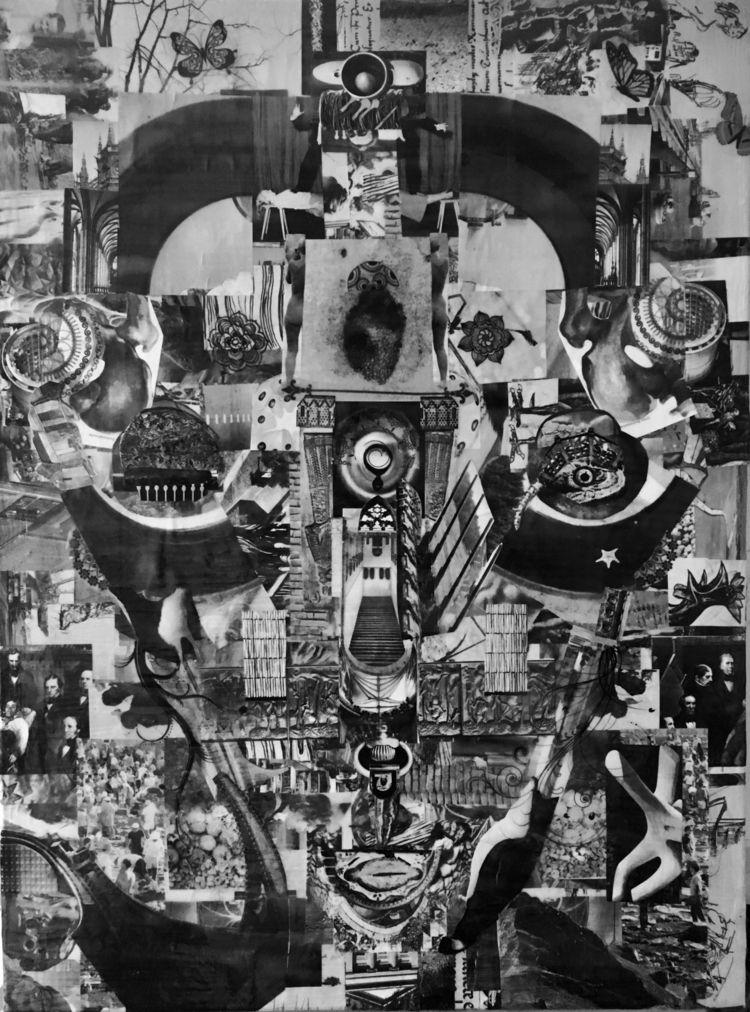 Papercollage 80x60 cm Canvas - art - chris_schauer | ello
