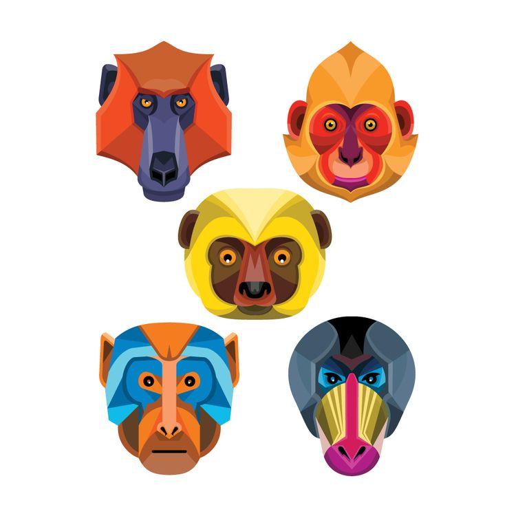 World Monkeys Flat Icon Collect - patrimonio | ello