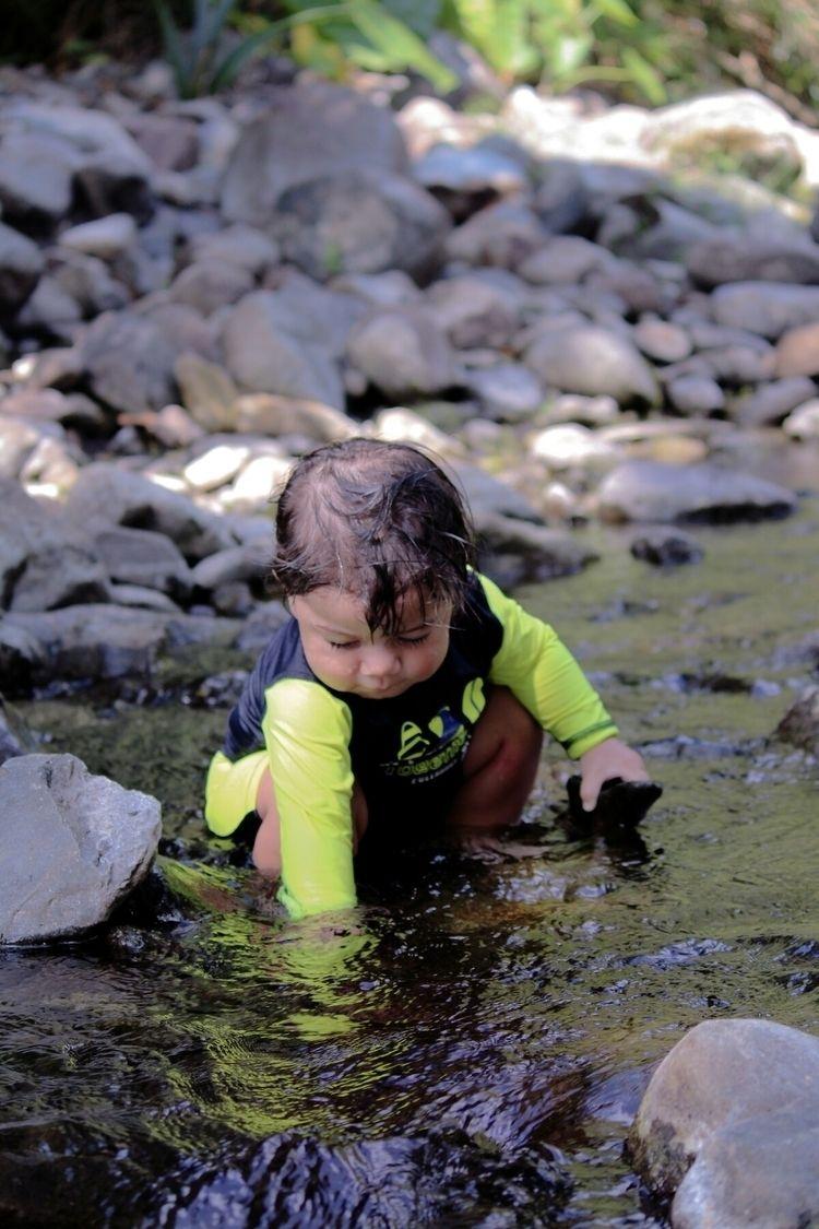 Tancoco river - baby, exploring - abi612 | ello