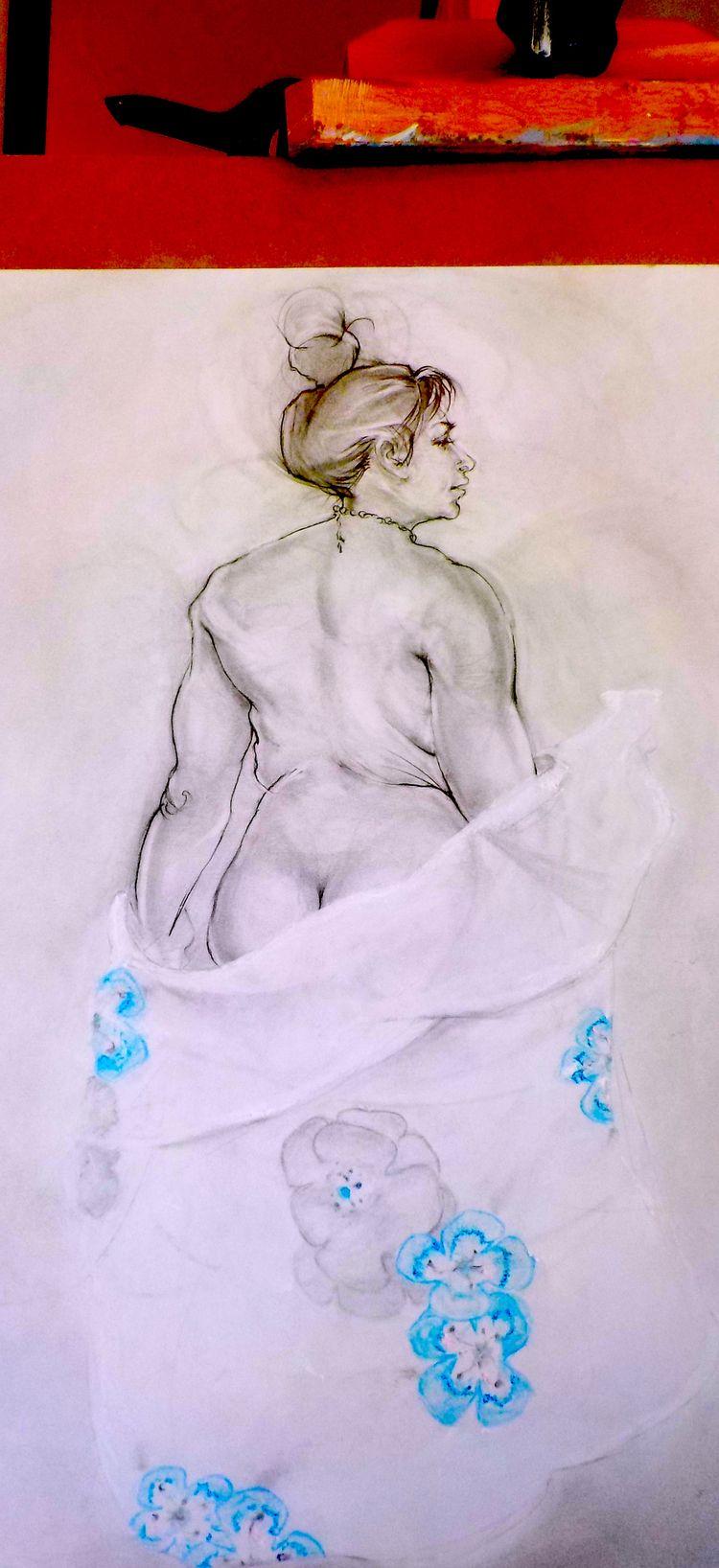 Figure drawing~Work progress. 1 - saracnordmark | ello