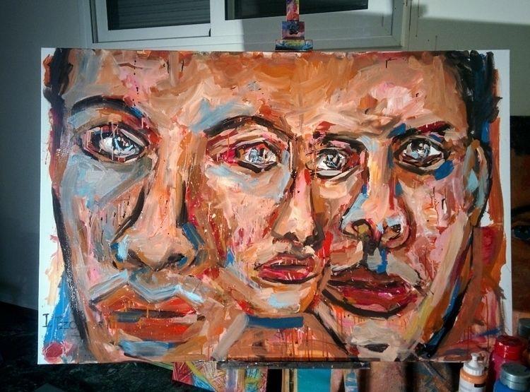 triple decay - contemporary, painting - jotzomakas   ello