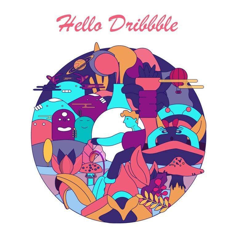 Dribbble shot... invitation  - nancykouta | ello