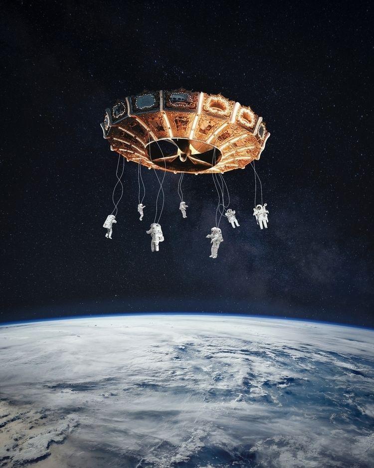 Space Carousel II - art, photography - jstnptrs | ello