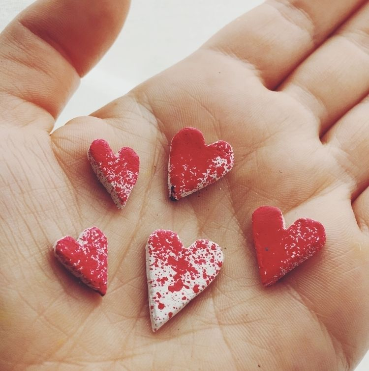 Tiny clay hearts :heart:️ - love - studiomalu | ello