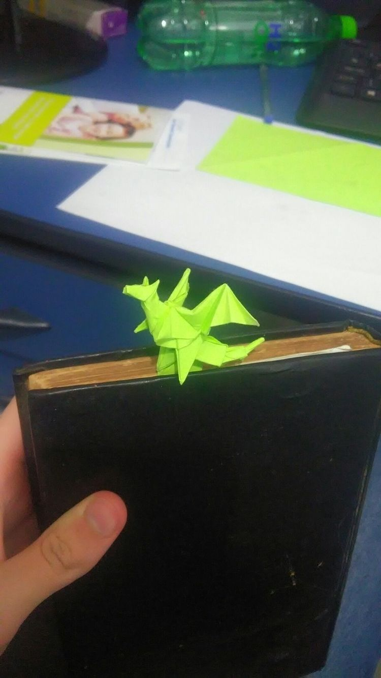 Dragon bookmark, design Jo Naka - romosken | ello