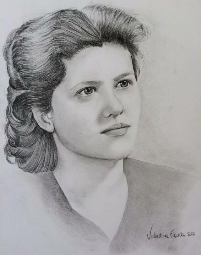 Maria - pencil, A4 paper - grandma - valentinafranchi92 | ello