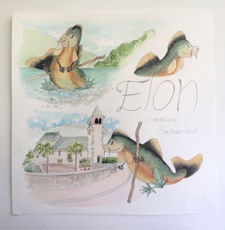 illustration, elon, molveno, contest - valentinafranchi92 | ello