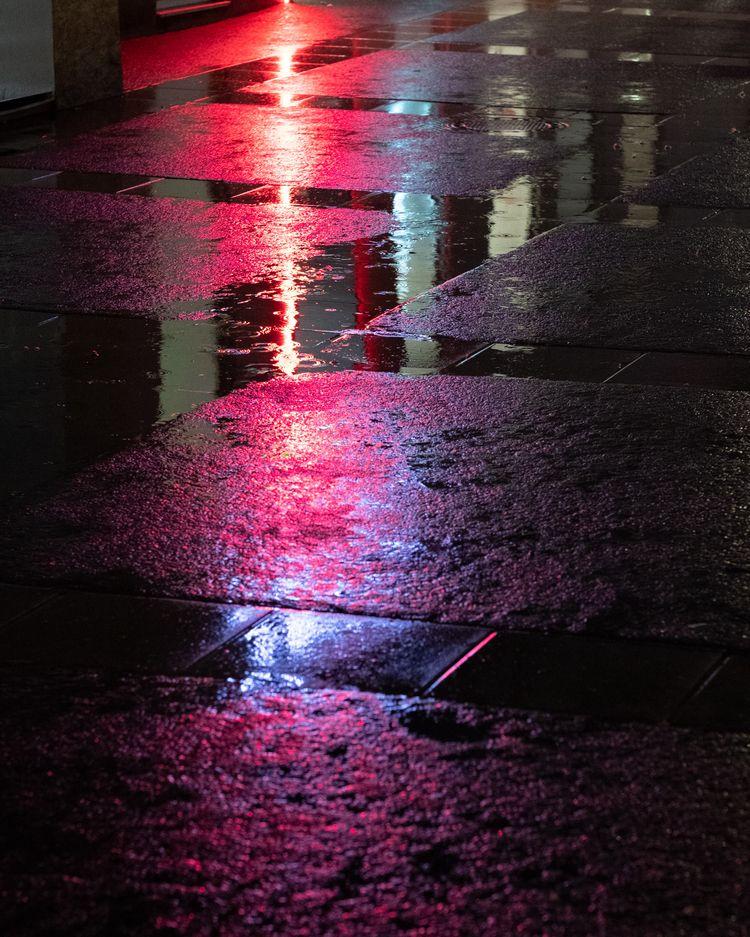 Purple rain - purple, street, fujixt2 - -osa- | ello