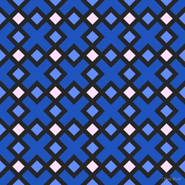 Geometric Pattern: Weave: Blue  - red_wolf | ello