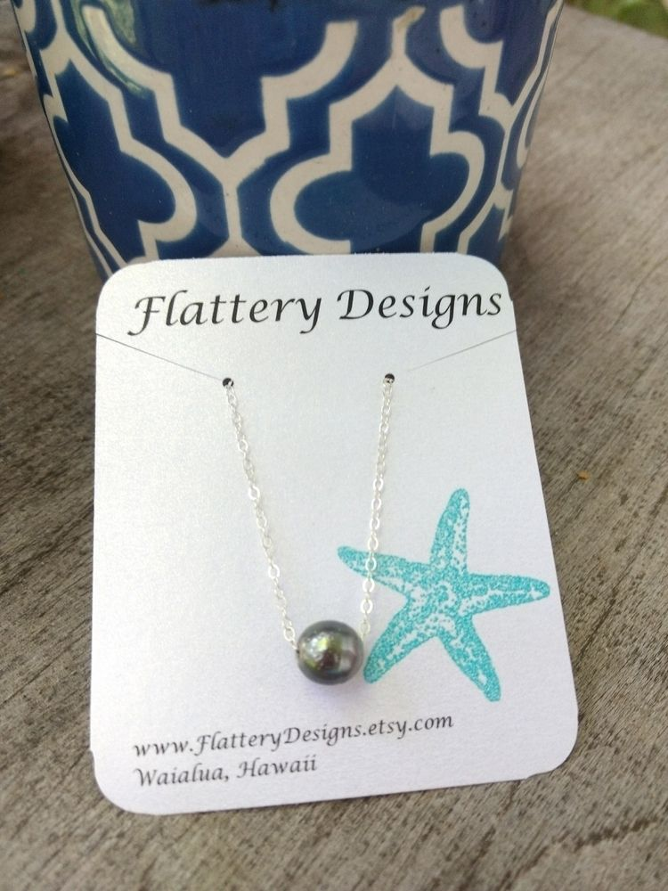 Tahitian Black Pearl Necklace s - flatterydesigns | ello
