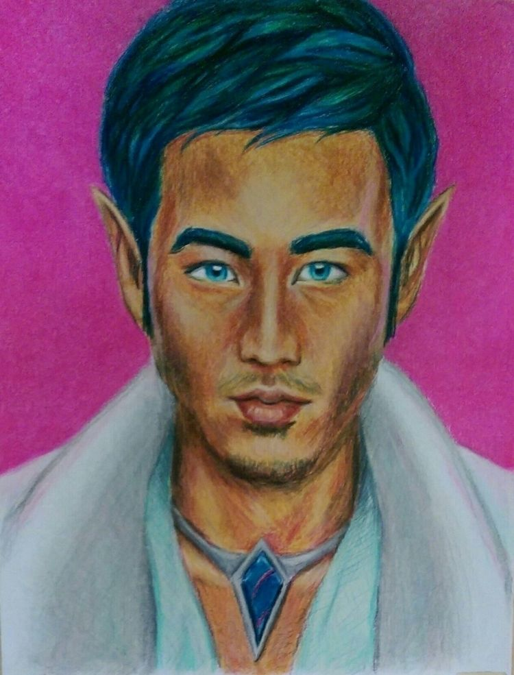 Castien 11x14 colored pencil - marascout | ello