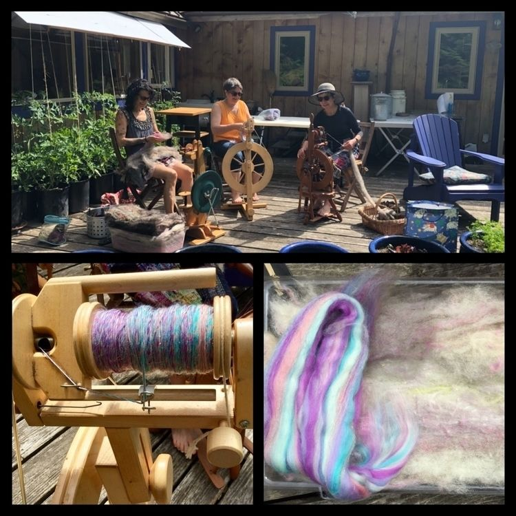 Sunday Spinning Session patio - tennantfarms - laurabalducci   ello