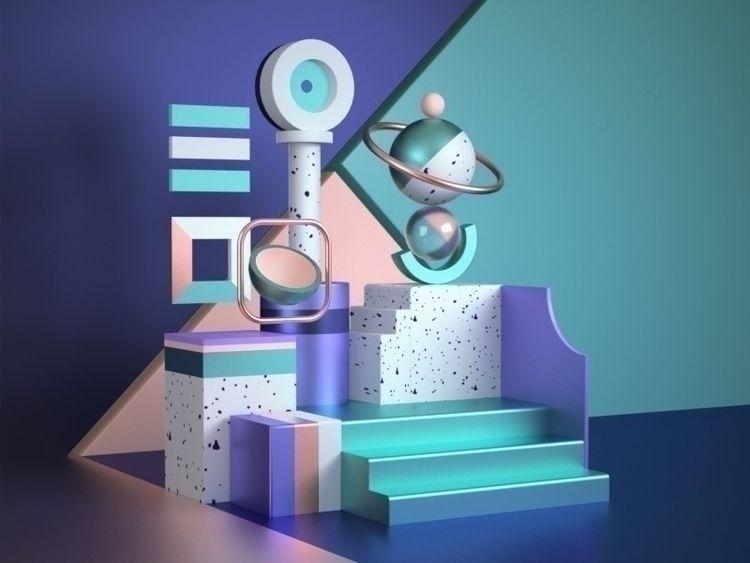 Shapes/Abstract 01 | Dribbble  - nguyenguyen | ello