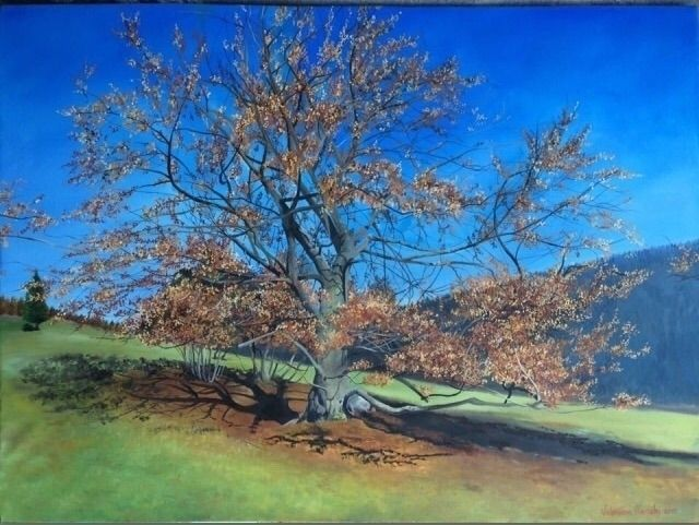 Prada tree - 50x65, oil canvas - valentinafranchi92 | ello