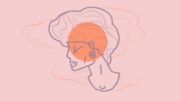 Waning sun - pink, girl, illustration - haskan   ello