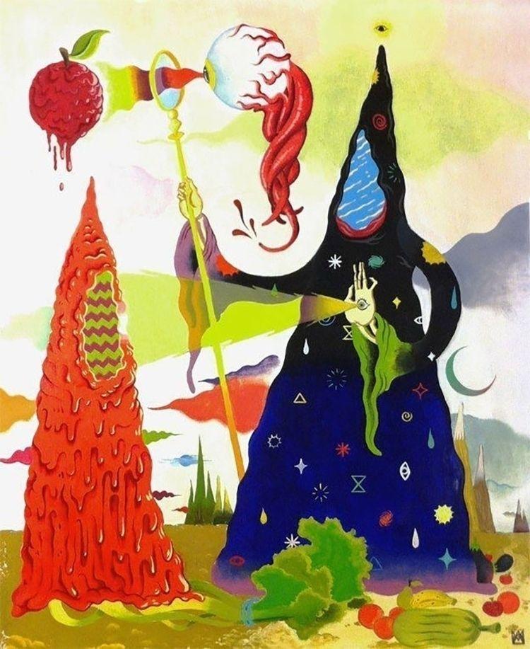 Magic Sorcerer Oil Painting 201 - akasickflick | ello
