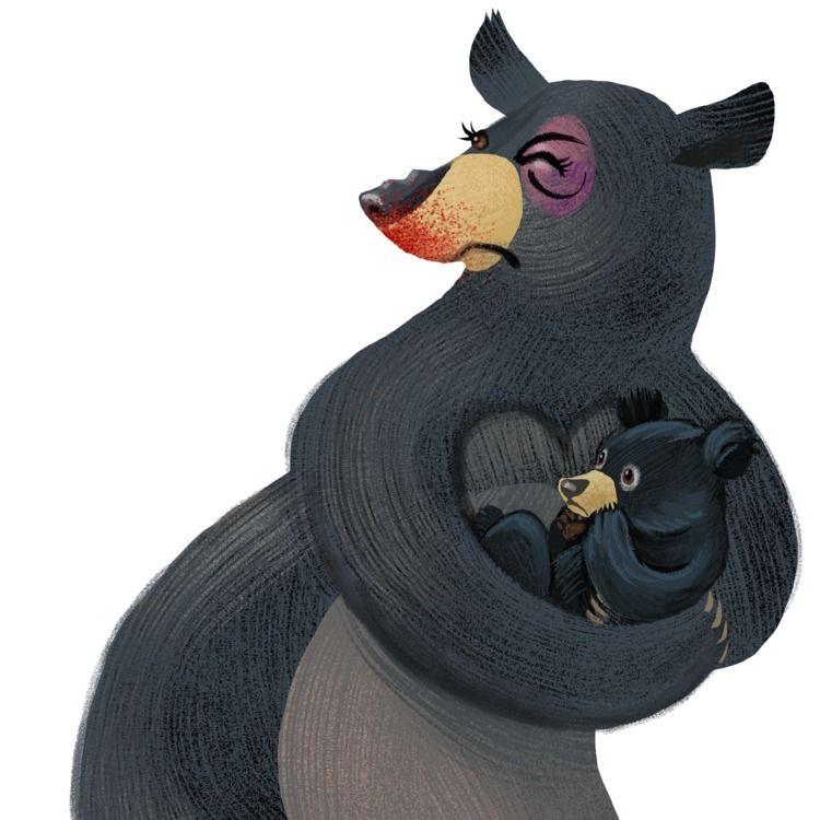 Mama bear righteous - illustration - vawalker | ello