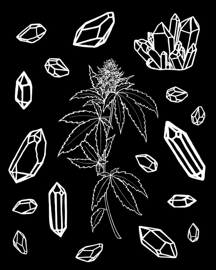 Crystals Chronic - moonflux_studio | ello
