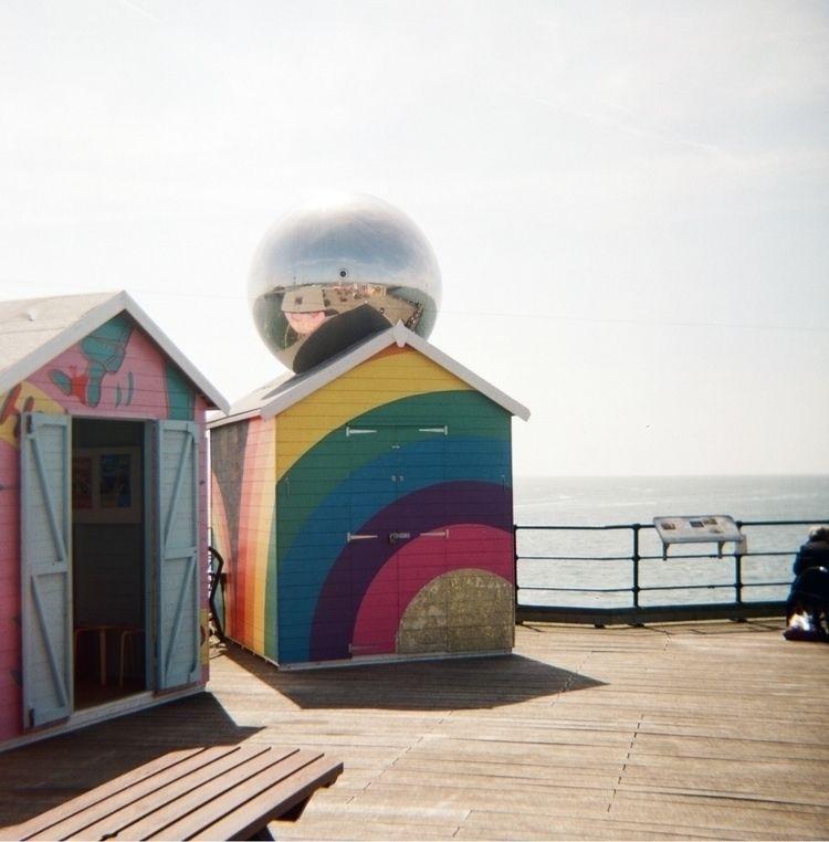 Southend Pier beach huts (Kodak - paulbines | ello