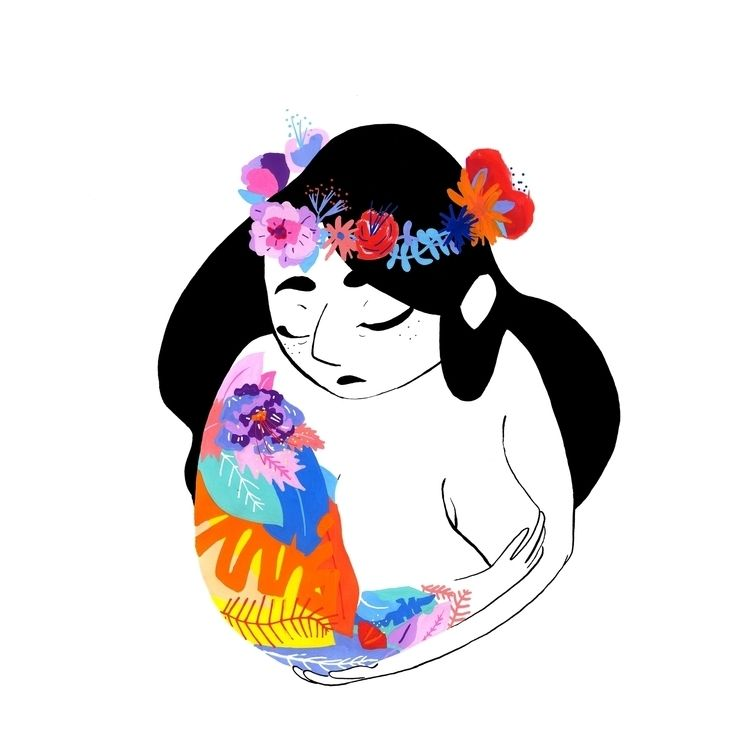 spring lady time black ! color  - elisavocado | ello