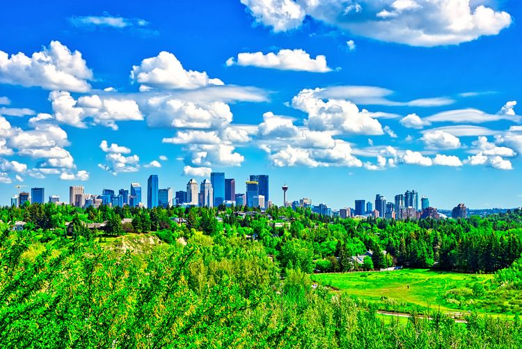 Downtown Calgary skyline River  - thefantasticone21 | ello