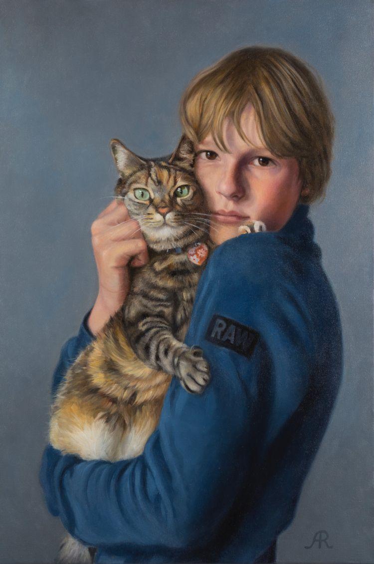 Soulmates, 60 90 cm, oil canvas - astridritmeester   ello
