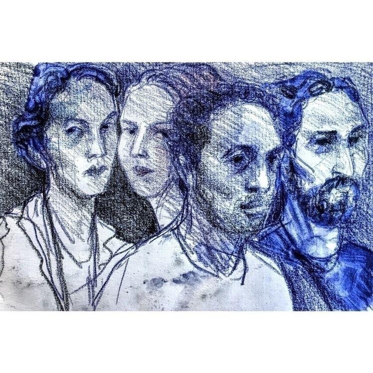 blue, art, sketchbook, sketch - yuliavirko | ello