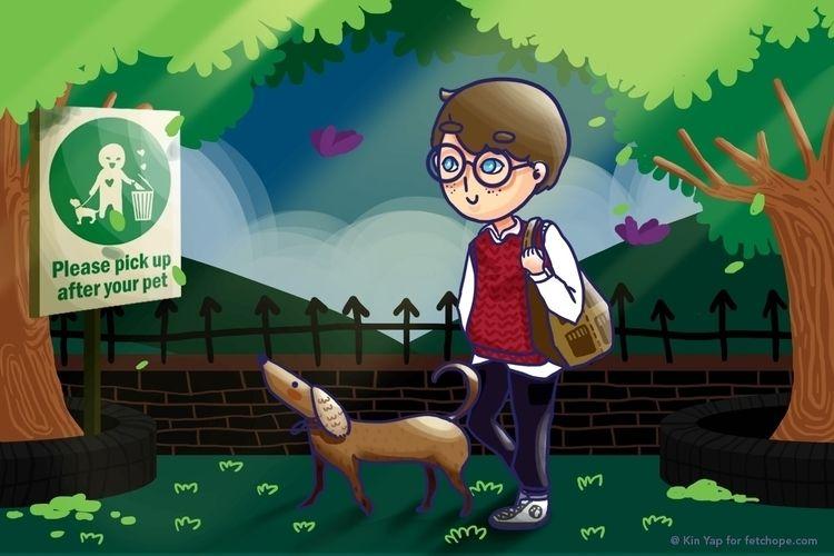 walking, dog., pickup, pet - fetchope | ello