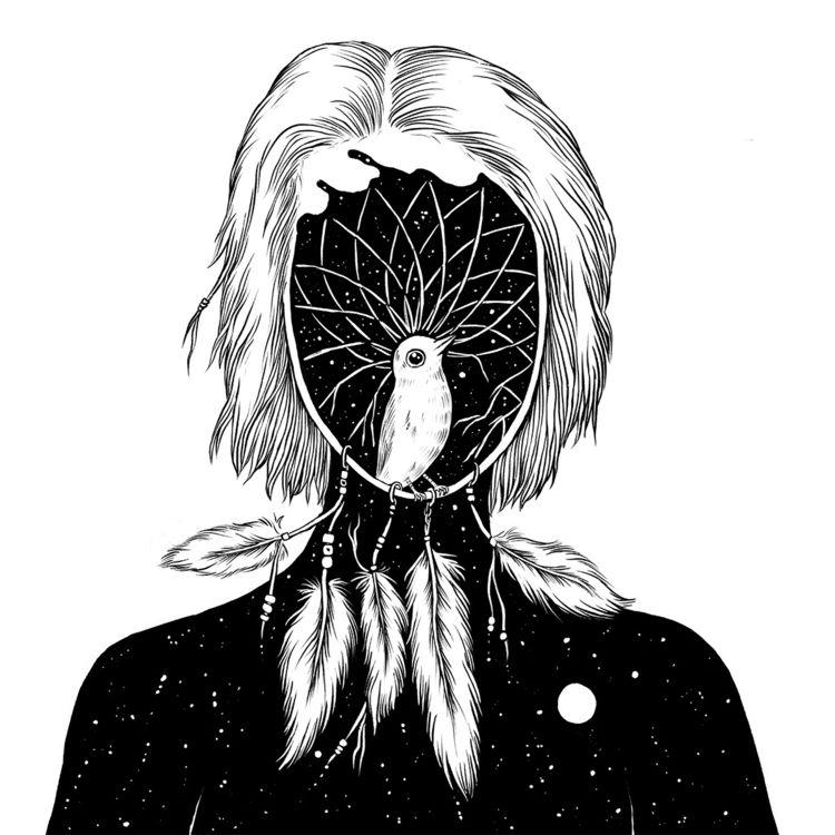 Dream Catcher - illustration - normanduenas | ello