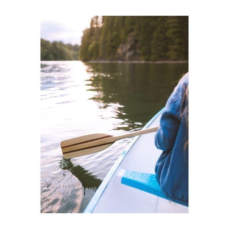 Canoeing Yale lake sunset - ivankosovan | ello