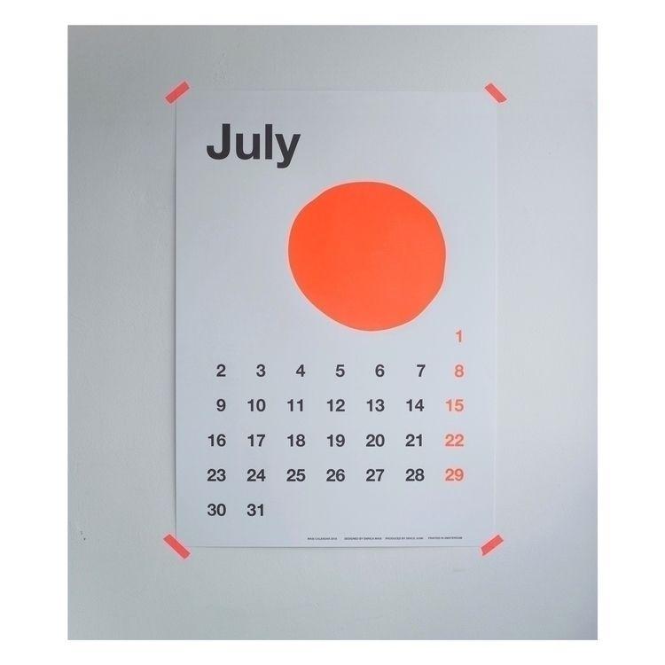 july2018, masicalendar, posterart - enricamasi | ello