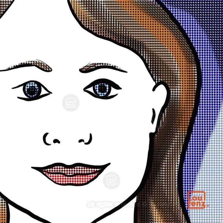 Face sketch - face, illustration - lourenz   ello