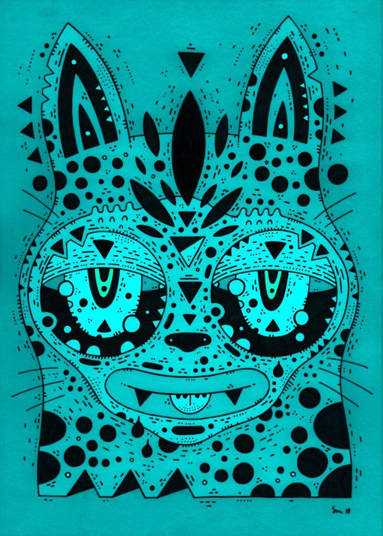 sunday monday blues - cats, ellocats - cosmicnuggets | ello