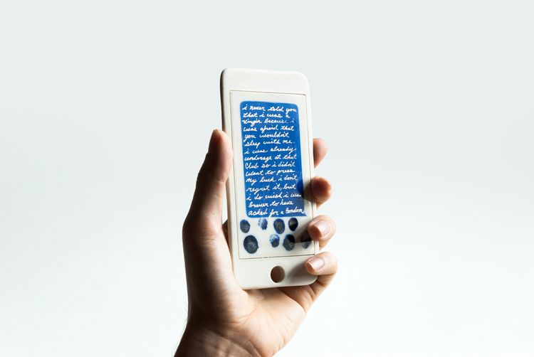 iPhone TXT message. Porcelain,  - adamchau | ello