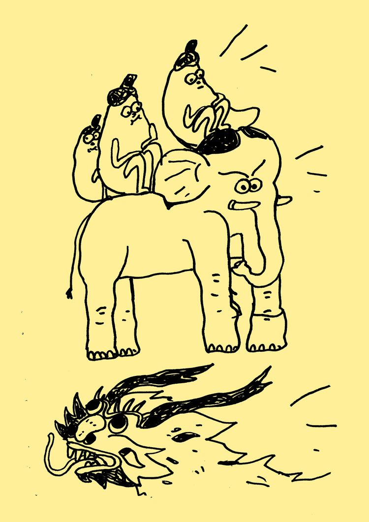 illustration, line, drawing, zine - agagiecko | ello
